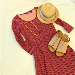🎀Lands End 3/4 Sleeve Knit Scoop Neck Dress